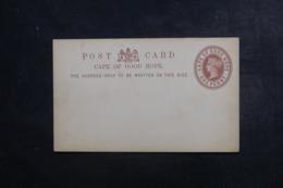 CAP DE BONNE ESPÉRANCE - Entier Postal Type Victoria Avec Repiquage Commercial Au Verso, Non Circulé - L 46292 - África Del Sur (...-1961)