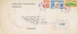 34553. Carta Aerea Certificada GUATEMALA 1949.  Correo TRASATLANTICO A London - Guatemala