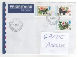 "Beaux Timbres , Stamps   "" Papillon ( Butterfly ) "" Sur Lettre , Cover , Mail Du 24/06/1998 - Cook"