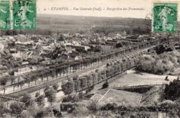 ETAMPES - Vue Générale (Sud) - Perspective Des Promenades - Etampes