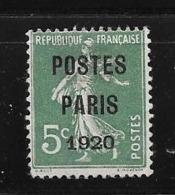 France:Préo N°24 Sans Gomme - Préoblitérés