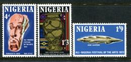 Nigeria 1972 All-Nigerian Arts Festival Set MNH (SG 277-279) - Nigeria (1961-...)