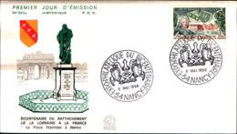 14036a)F.D.C -  Bicentenaire Du Rattachement 6-5-66 - France