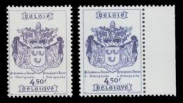 Belgium  1856  XX (MNH)  Blauw In Plaats Van Violet - Errors And Oddities