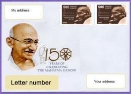 Kazakhstan 2019. A Letter To Your Address. Cover. 150 Anniversary Of Mahatma Gandhi. - Kasachstan