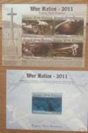 Papua New Guinea-2011 War Relics 2 Minisheets MNH - Papua New Guinea
