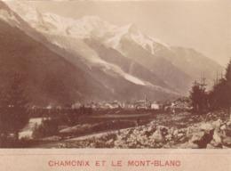 PHOTO ANCIENNE,74,HAUTE SAVOIE,1900,CHAMONIX,MONT BLANC,RARE - Places