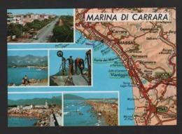- ITALIE - Marina Di CARRARA - Massa, Camaiore, Lucca, Pisa Massa  (Dalla Carta Automobilistica ) Carte Routière - Carrara