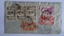 INDOCHINE - Lettre De NHATRANG Via SAIGON Par Avion Pour ST FLOUR (France)- 1948 - 6 Timbres - Storia Postale