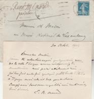 Carte De René Ménard, Peintre-illustrateur à Ch. Masson, Directeur Du Musée Du Luxembourg à Paris. - Autographes