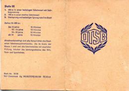 """(Kart-ZD) DDR DTSB Urkunde """"Schwimmabzeichen Der Deutschen Demokratischen Republik Stufe II"""" Ausgest. 15.6.61 - Duitse Democratische Republiek"""