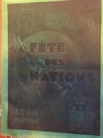 Menu Fete Des Nations - Obj. 'Remember Of'