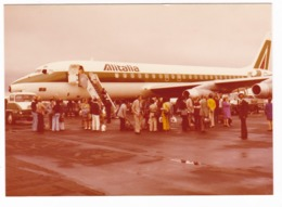 """AEREO - PLANE - ALITALIA """" DC 8 """" - SCALETTA PASSEGGERI - FOTO ORIGINALE - Aviazione"""