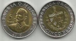 5 Pesos 2016. High Grade - Cuba
