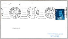 Rodillo REFERENDUM NACIONAL - DIA DE LA CONSTITUCION - 6 DE DICIEMBRE. Cartagena, Murcia, 1978 - 1931-Hoy: 2ª República - ... Juan Carlos I