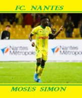 CARTE JOUEUR .FC. NANTES   FRANCE MOSES SIMON    SAISON  2019-2020 #  JN.FC.  371 - Voetbal