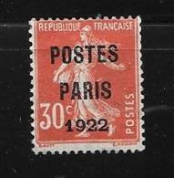 France:Pré N°32 Sans Gomme - Préoblitérés