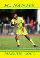 CARTE JOUEUR .FC. NANTES   FRANCE MARCUS  COCO    SAISON  2019-2020 #  JN.FC.  370 - Voetbal