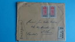 AOF- HAUT SENEGAL Et NIGER - L. Recommandée Caserne Du Zinder à France Du 2/12/1921 Via Liverpool + Vignette Ski Club - Covers & Documents