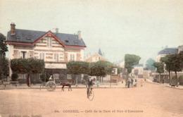 CORBEIL ESSONNES - Café De La Gare Et Rue D'Essonnes - Corbeil Essonnes