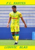 CARTE JOUEUR .FC. NANTES   FRANCE LUDOVIC  BLAS    SAISON  2019-2020 #  JN.FC.  368 - Fútbol