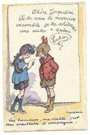 """ILLUSTRATEUR - POULBOT - """"Les Hommes, Ma Vieille, C'est Tous Menteurs Et Compagnie"""" - CPA - Poulbot, F."""