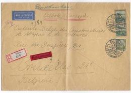 REICH - 1936 - TIMBRES ZEPPELIN Sur ENVELOPPE RECOMMANDEE EXPRES De ELTVILLE (SONDERSTEMPEL VIN ET ROSES) - Duitsland