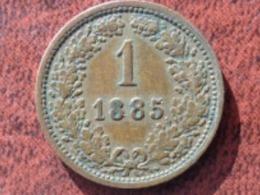 AUTRICHE UNC 1 KREUZER 1885 - Austria