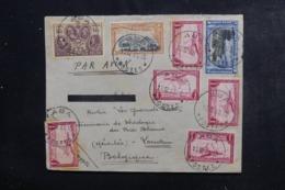 CONGO BELGE - Enveloppe De Aba Pour Louvain Par Avion En 1935, Affranchissement Plaisant - L 46304 - Congo Belge
