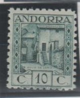 ANDORRA C. ESPAÑOL Nº C. M. ABAD 30d  DENTADO 10 SIN CHARNELA MUY RARO.(S.2) - Andorra Española