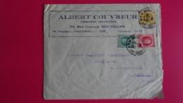 BELGIQUE- Lettre Commerciale De BRUXELLES à PARIS 1926 - Postmark Collection