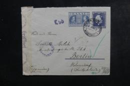 GRECE - Entier Postal De Athènes ( Hôtel Impérial ) Pour Berlin En 1941 Avec Contrôle Postal - L 46306 - Entiers Postaux