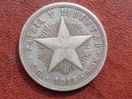 CUBA : SUPERBE 20 CENTAVOS ARGENT 1915 - Cuba
