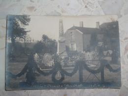 CARTE PHOTO BELMONT 52 HAUTE MARNE MONUMENT AUX MORT 22 MAI 1921, Marqué Au Dos Crayon Croisement Rue Vergers Et  Moulin - Other Municipalities