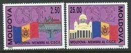 MOLDOVA 1992 European Securty Conference MNH / **.  Michel 41-42 - Moldova