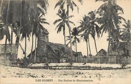 Pays Div- Ref U202- Oceanie - Iles Gilbert - Missions - Mission - Une Station De Missionnaires - - Ansichtskarten
