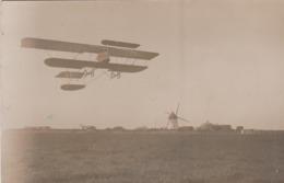17 LA ROCHELLE CARTE PHOTO  16 ET 17 AVRIL 1911 FETES D'AVIATION A BONGRAINE RENAUX ET SON BYPLAN - La Rochelle
