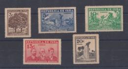 INVASIÓN DE ORIENTE A OCCIDENTE. CUBA 1933 EDIFIL 267/71. NUEVO CON MARCAS DE CHARNELA - Kuba
