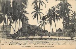 Pays Div- Ref U201- Oceanie - Iles Gilbert - Missions - Mission - Une Station De Missionnaires - - Ansichtskarten