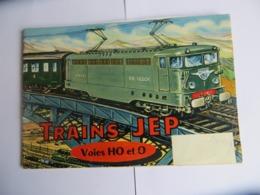 Catalogue Trains JEP 1960/1961 + Autres Jouets Avion Bateaux Et Canots Voiture Teleguidée DS 19 - French