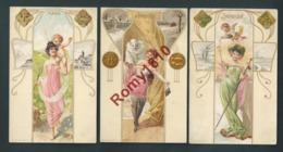 Geiger Hegediüs; (Hongrie) Art Nouveau. Les 12 Mois De L'Année. Série 366 Complète. Scan Recto /verso. - Illustrateurs & Photographes