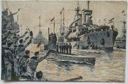 Marine, U-Boot U 9, Kapitänleutnant Otto Weddigen, Rückkehr N. Wilhelmshaven (7) - Guerre 1914-18