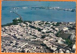 DJIBOUTI      Vue  Aérienne Du Centre Commercial  Et Du Port      CPSM   Num 15       Non écrite - Gibuti