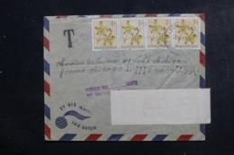 CONGO BELGE - Enveloppe De Léopoldville Pour Chicago En 1954, Affranchissement Plaisant, Taxe à L 'arrivée - L 46313 - 1947-60: Lettres
