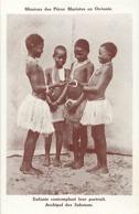 Pays Div- Ref U198- Oceanie -mission-missions Des Peres Maristes -archipel Des Salomon -enfants - - Solomon Islands