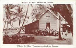 Pays Div- Ref U197- Oceanie -mission-missions Des Peres Maristes -archipel Des Salomon -ecole Tangarare -ecoliers - Solomon Islands