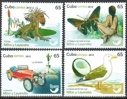 Cuba 2012 / Birds Legends Cars Butterflies UPAEP MNH Coches Leyendas Mariposas Pájaros / Cu8533  C3-9 - Oiseaux