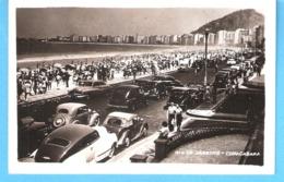 Brasil-Brésil-Rio De Janeiro-Copacabana-+/-1950-Oldtimer-Vintage Cars-Vieilles Voitures-Edic.Wessel-Carte Photo - Copacabana