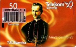 Slovenia, Slovenija, Slowenien, Telekom Slovenije - TS263. Very Rare Phonecard - Pope. Only 998 Pieces Issued. - Slowenien