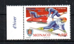 WINTER OLYMPICS 2018 Monaco Sport MNH - Winter 2018: Pyeongchang